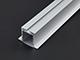 ANRO LED ALP-031 Aluminium U profil ezüst , LED szalaghoz gipszkartonba, opál burával