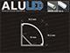 LED Profiles Aluminium profil eloxált (ALP-006) LED szalaghoz, átlátszó