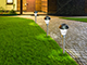 Nortene Areis Trio kerti, leszúrható, napelemes szolár LED lámpa (3 db) króm Kifutó!