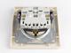 Schneider Electric Asfora - Aljzat 2P+F, komplett, bézs