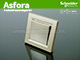Schneider Electric Asfora - Kapcsoló, keresztkapcsoló, keret nélkül, bronz