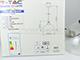 V-TAC Astro Medium vintage csillár (E27) - átlátszó színű bura
