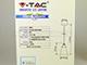 V-TAC Astro Mini vintage csillár (E27) - borostyán színű bura