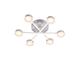 Elmark Azzar ledes design csillár (66W) - meleg fényű