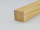 Gyalult fa négyszögléc - fa barkácsléc, skandináv fenyőből (15x15mm)