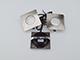 GTV Marbella LED spot lámpatest (1.5W) szatén-nik., h. f., négyzet 3db