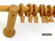 Bermeo fa rúdkarnis szett - bükk, egysoros, 120 cm