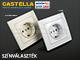 Legrand Castella Euro dugalj, 3-as, fehér