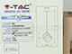V-TAC csillár 3833 (E27 foglalat)