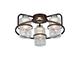 Elmark Ciara wenge csillár - (3xE27) - mintás üveg bura
