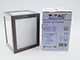 V-TAC Cube oldalfali dekor lámpatest - szürke (12W) hideg fehér