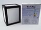 V-TAC Cube oldalfali dekor lámpatest - fekete (12W) természetes f.