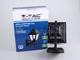 V-TAC Damas-L oldalfali lámpa IP44 (E27) - fekete