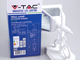 V-TAC Damas-S oldalfali lámpa IP44 (E27) - fehér Kifutó!
