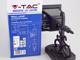 V-TAC Damas-S oldalfali lámpa IP44 (E27) - fekete