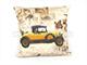 Díszpárna huzat - Car (45x45 cm) Len