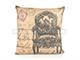 Díszpárna huzat - Chair (45x45 cm) Len