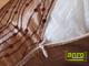 Díszpárna huzat flitteres (28x48 cm) Barna