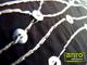 Díszpárna huzat flitteres (28x48 cm) Fekete