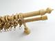 GARDINIA Agat 25-20 mm fa karnis, kétsoros, juhar, 220 cm