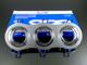V-TAC Alumínium dupla/tripla spot (3600), 3-as, szálcsiszolt alu