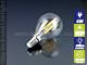 V-TAC E14 LED izzó Retro filament (4W/300°) Kisgömb - természetes fehér