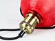 V-TAC Scots vintage csillár (E27) - piros színű ernyő