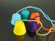 V-TAC E27-es szilikon függőlámpa (minimal lámpatest) - türkiz