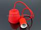V-TAC E27-es foglalatú minimál függeszték - piros