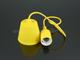 V-TAC E27-es szilikon függőlámpa (minimal lámpatest) - sárga