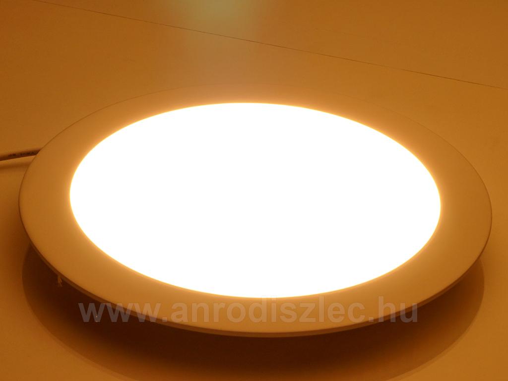 V-TAC ECO LED panel (kör alakú) 18W - meleg fehér