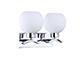 Elmark Eslo króm falikar - dupla (2xE27) - fehér gömb bura