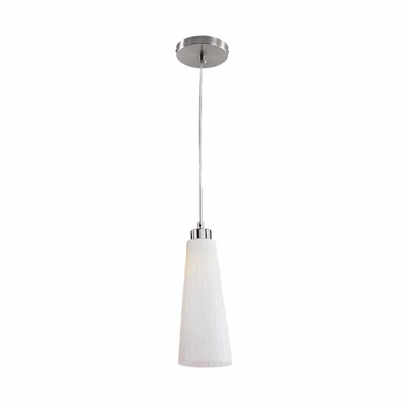 Elmark Karen szimpla króm mennyezeti lámpatest - (E27) - gúla, fehér