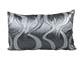 -Díszpárna huzat - (28x48 cm) Hínár ezüst
