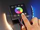 Fali RGBW LED vezérlő (RGBWZJ) - 192W - fekete Utolsók