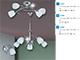 Rábalux Amy króm opál üveg csillár (E14) 4-es