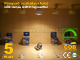 V-TAC LED lámpa GU10 (COB LED/5W/40°) meleg f. Dimm. Kifutó!