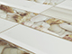 Flexwall PVC falpanel - Metró csempe, Homokos part csempe, aranybarna fugával