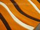 Lares Frizee szőnyeg (0244A) Terra hullám - 80x150 cm