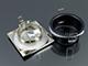 V-TAC Négyzet alakú spot lámpatest (361), fix, mattkróm, fürdőszobai
