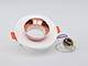 V-TAC Gipsz spot lámpatest (Rose Gold) süllyeszthető, kör