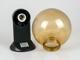 Total Green Gömb alakú kerti lámpa E27 - falikar, borostyán bura (200 mm)