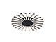 Elmark Josey ledes design csillár (96W) - meleg fényű - fekete