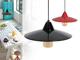 Kanlux Acél függő lámpa Jovit (piros) + ajándék 8 Wattos LED lámpa!