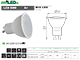 Kanlux MIO LED lámpa GU10 (8W/120°) meleg fehér Utolsók!
