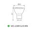 Kanlux MIO LED lámpa GU10 (8W/120°) meleg fehér