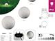 Kanlux Leszúrható lámpa Stono-N, E27 izzóhoz, kőhatású gömb bura, ø20cm