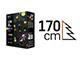 EMOS Karácsonyi LED fényfüzér (3.6W/120 LED) Multicolor, 8 funkciós