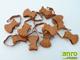 Függöny Center Carballo karnis csipesz - barna színű (10 db)