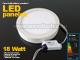 Falon kívüli kör LED panel (220 mm) 18W - hideg fényű